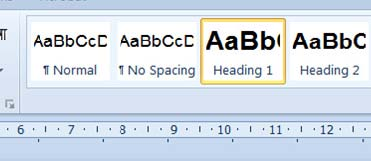 a screenshot showing how to apply heading styles to a word document