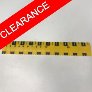 Yellow and black tactile ruler 20cm