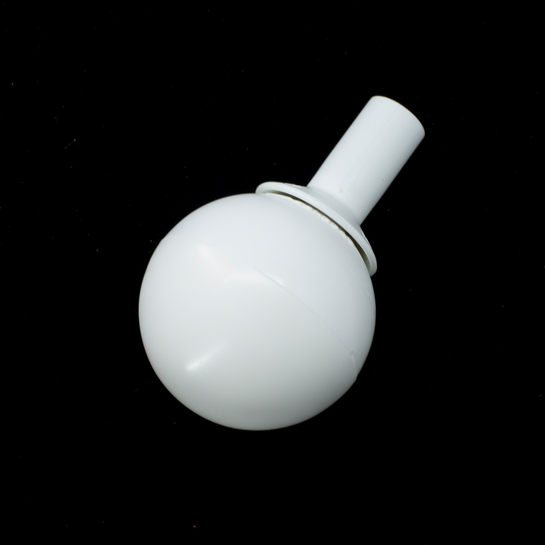 White rolling ball tip for a cane
