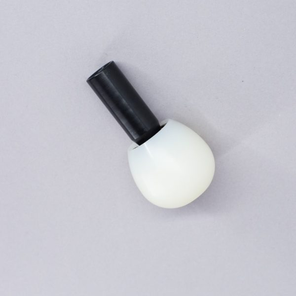 White ball overfit tip for a cane