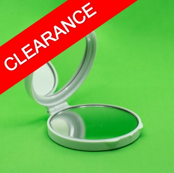 5x magnifying white compact mirror