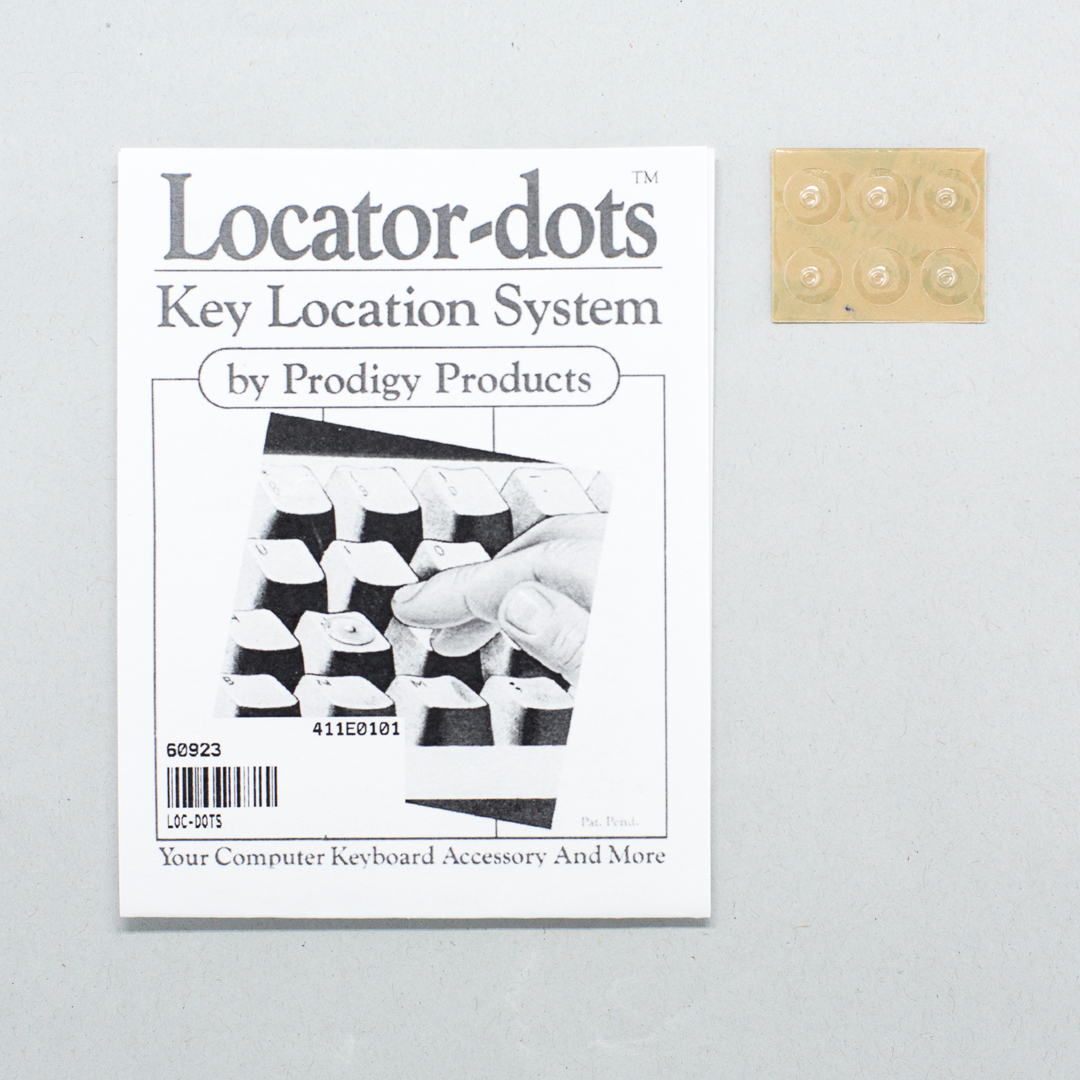 A pack of Locator-dots tactile dots