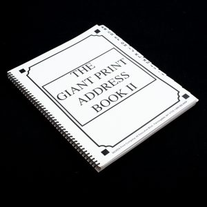 The Giant Print address book