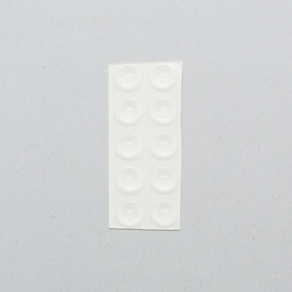Round white bump-on tactile labels