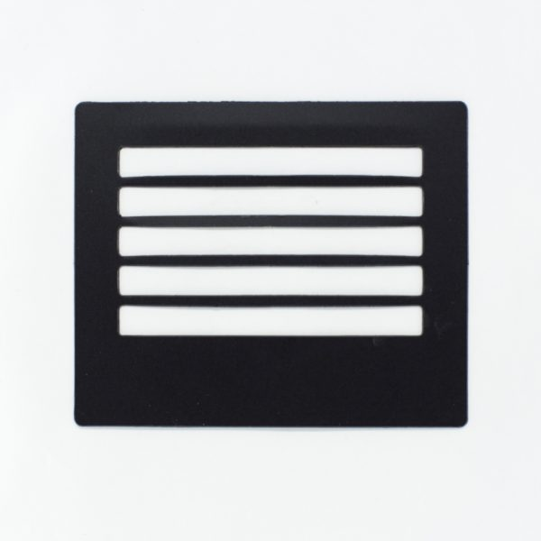 Black envelope hand writing guide