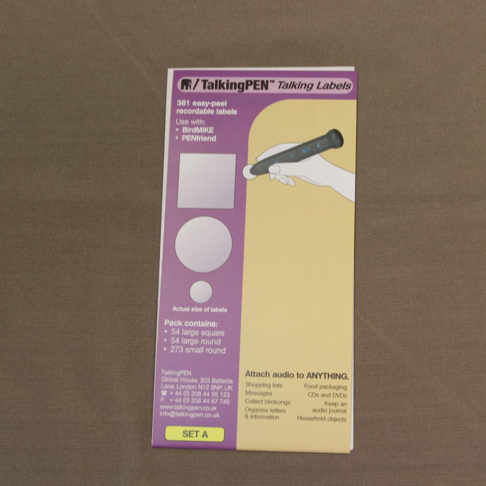 Penfriend Labels Pack A 381 Labels Blind Foundation