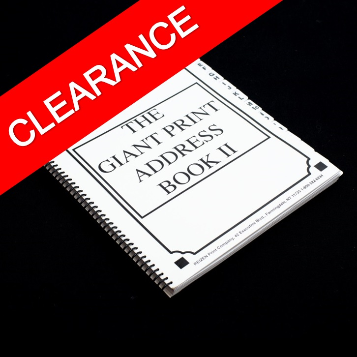 Giant Print Address Book - Clearance