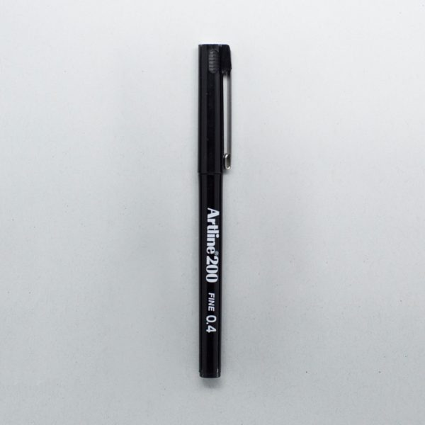 1 black Artline fine tip pen