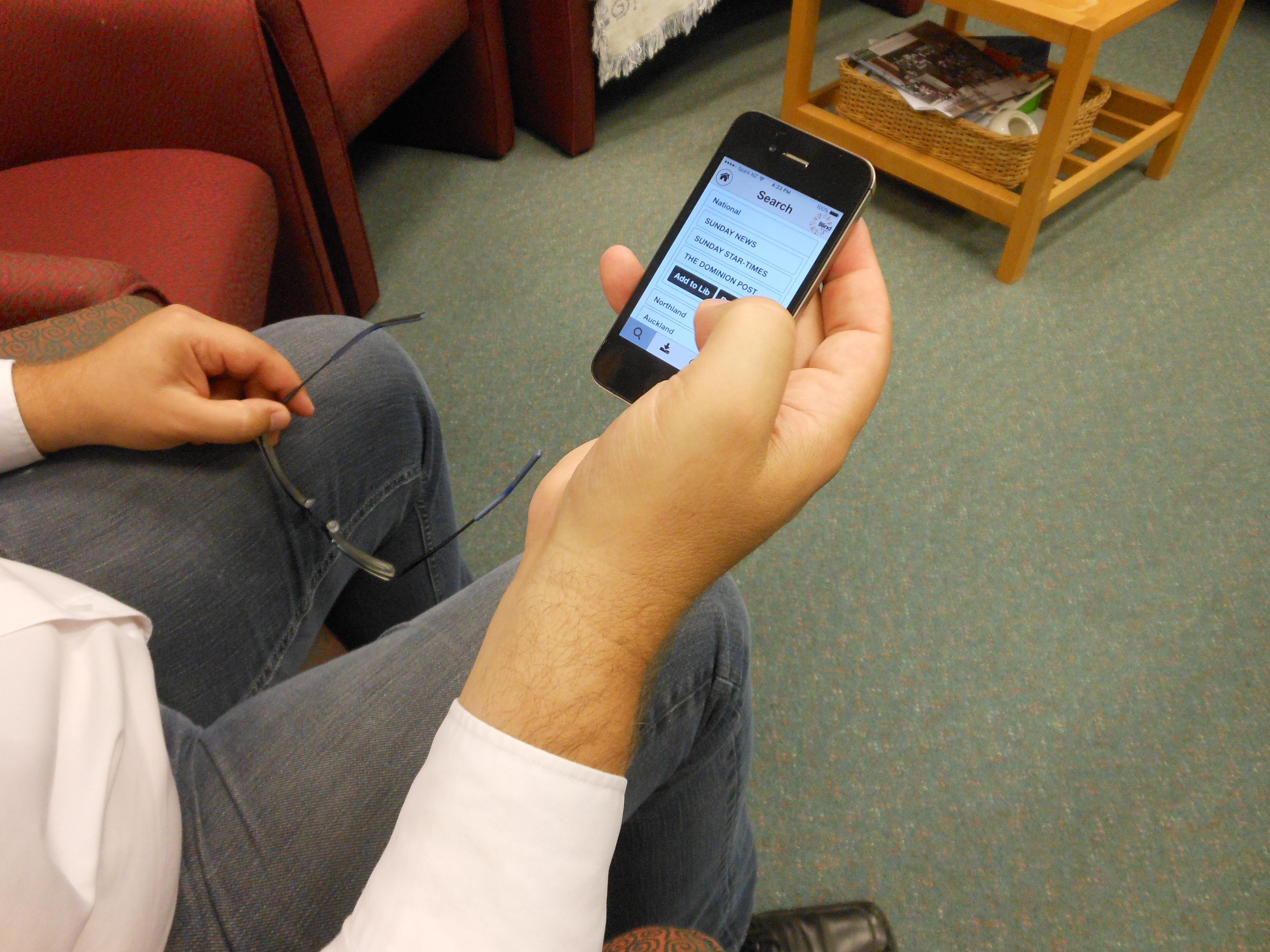BookLink app on iphone