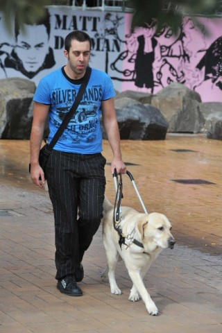 Client and guide dog