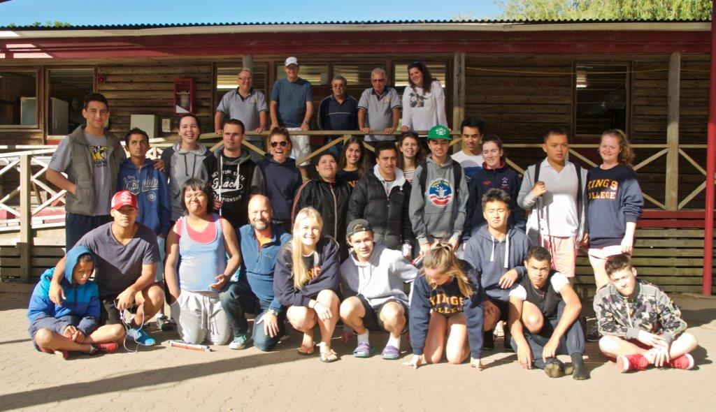 Rotary camp group photo, Latesha third in from the left second row