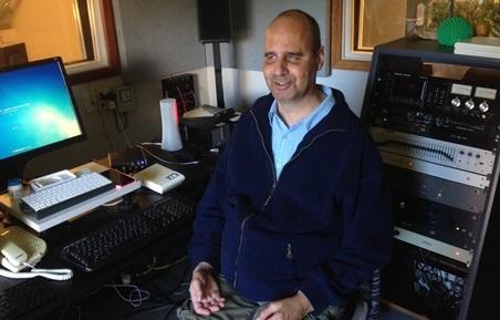 Marcel in the studio