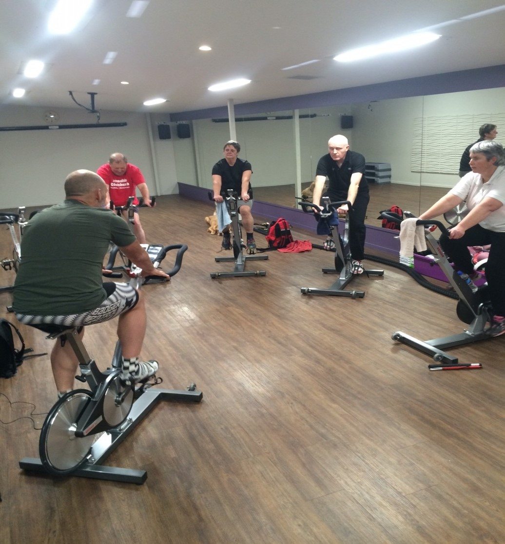 Photo of group at spin class