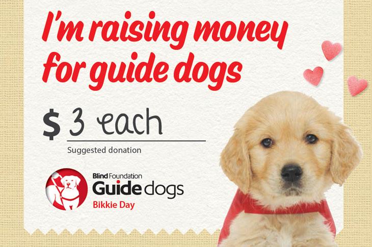 Red Puppy Bikkie day price card example