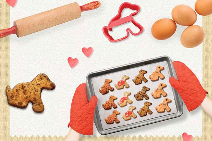 Bikkie Day promotional image showing baking ingredients