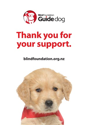 Guide Dogs thank you for your support poster