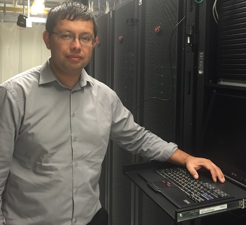 Terry Wilson at the datacentre