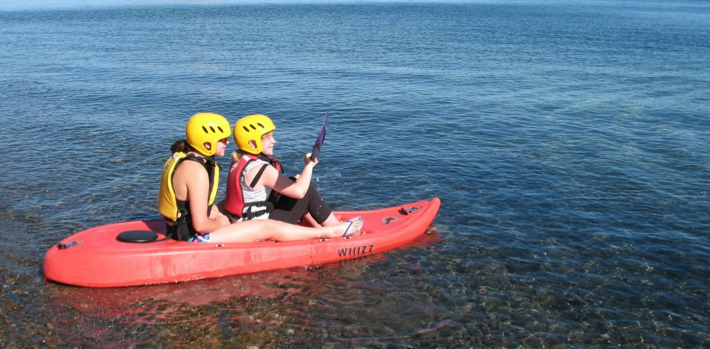 Kayakers on Lake Taupo
