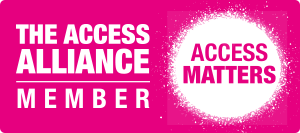Image shows the Access Matters campaign logo and the words