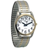 7. Unisex low vision watch, white face with 12 black numbers