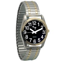 8. Unisex low vision watch, black face, 12 white numbers
