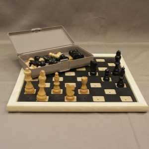 Photo of chess and checker set