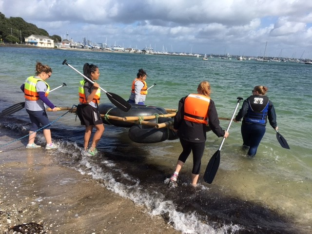 Youth SEED participants taking out their raft