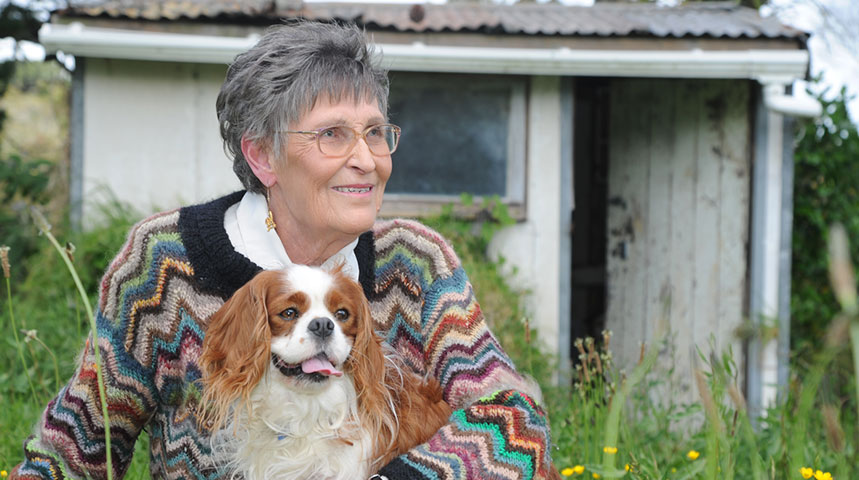 Maureen with her Cavalier King Charles Spaniel, Jack