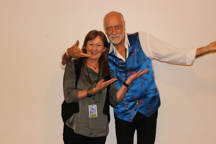 Fiona Notton with Mick Fleetwood