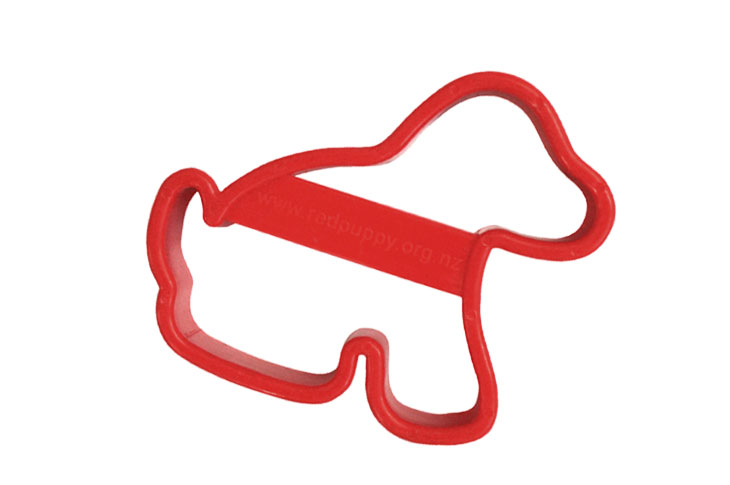 Red puppy shaped cookie cutter