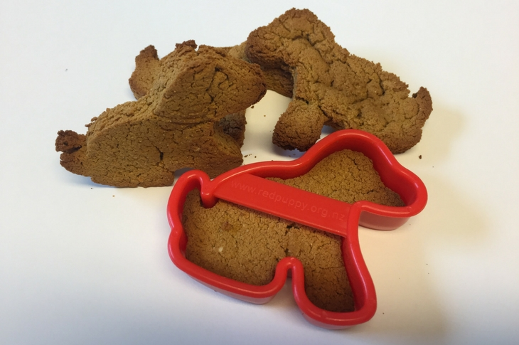 Puppy shaped dog biscuits