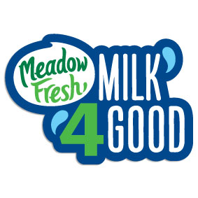 Image shows the Meadow Fresh Milk 4 Good logo.