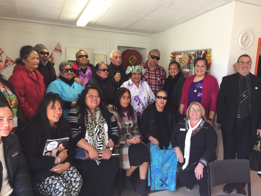 Pacific services group at the Blind Foundation