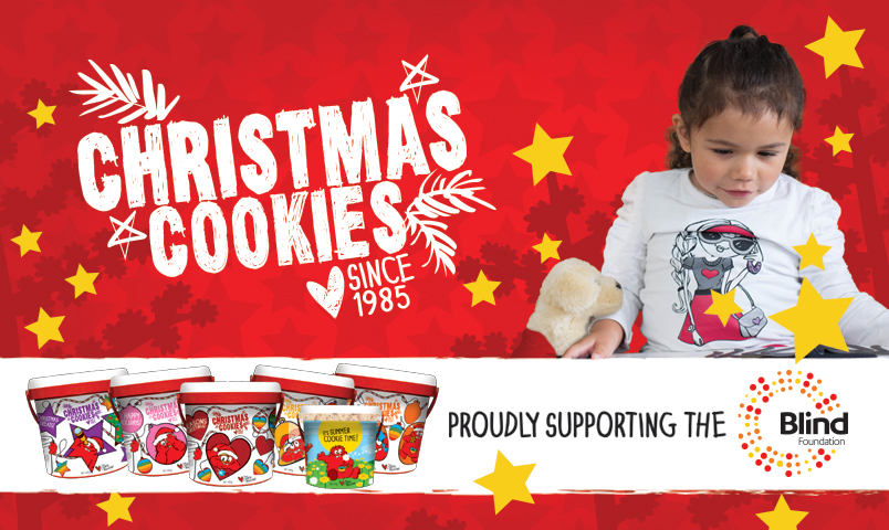 Poster for Christmas Cookies featuring a young blind girl