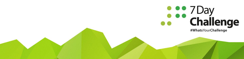 7 Day Challenge green banner