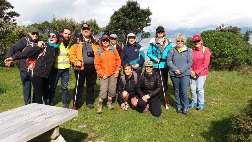 Image shows the Kapiti Walking Group on Kapiti Island.
