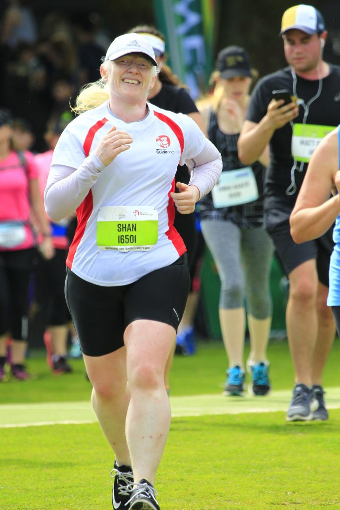 Shannon Cleave competing in a running event.