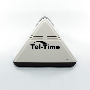Pyramid shaped talking Tel-Time clock