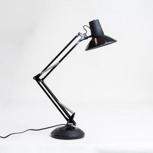Black standing desk lamp