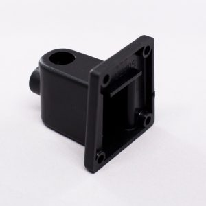 Black wall bracket for a lamp