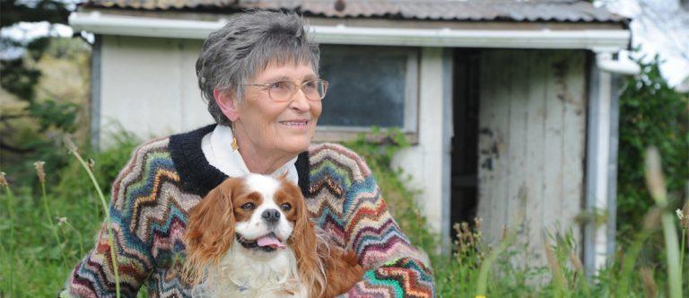 Maureen Ridge with her pet dog