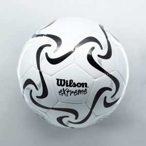 Wilson white soccer ball with bells