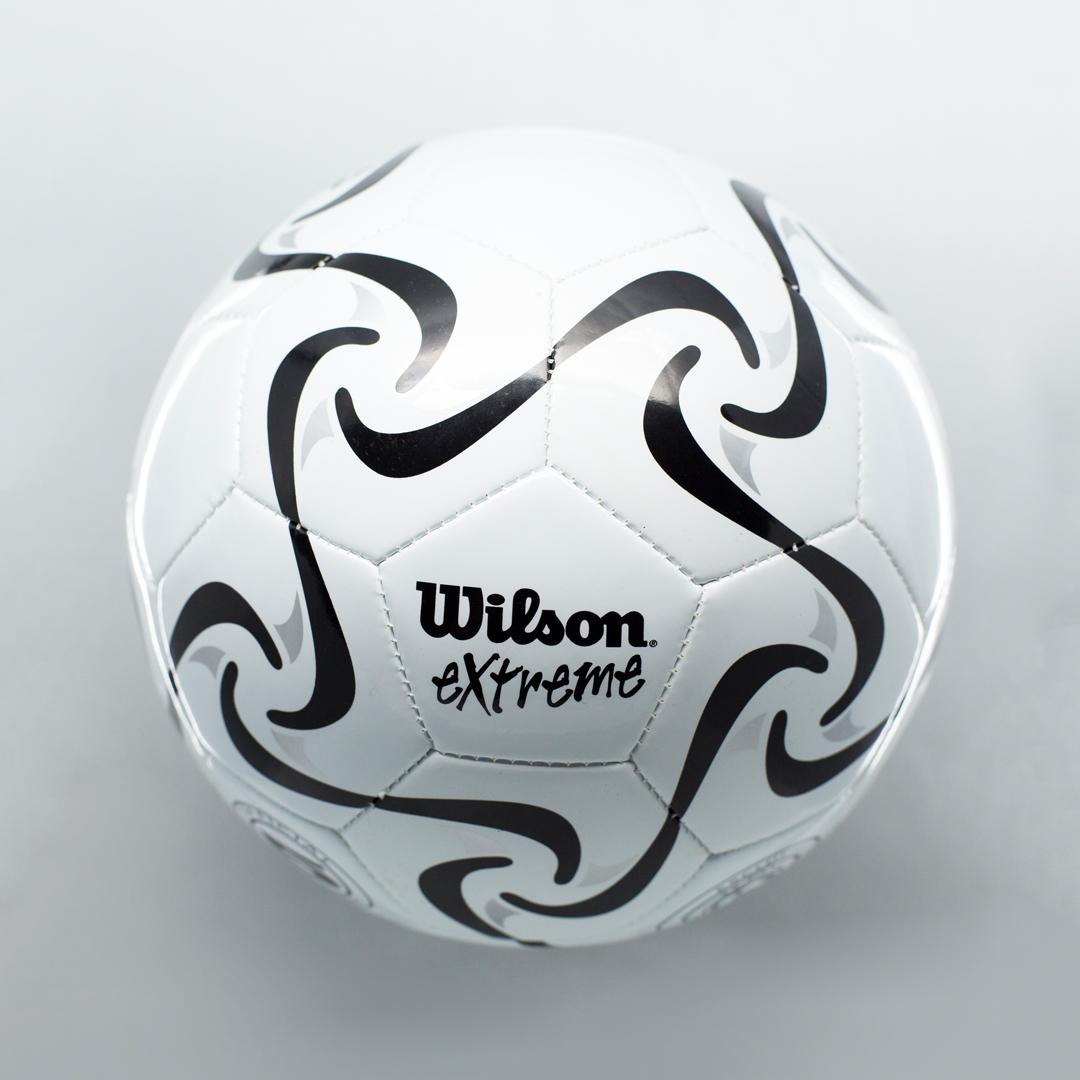 Wilson white soccer ball with bells