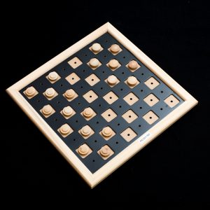 Deluxe tactile checker set made from wood