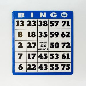 Large print bingo square