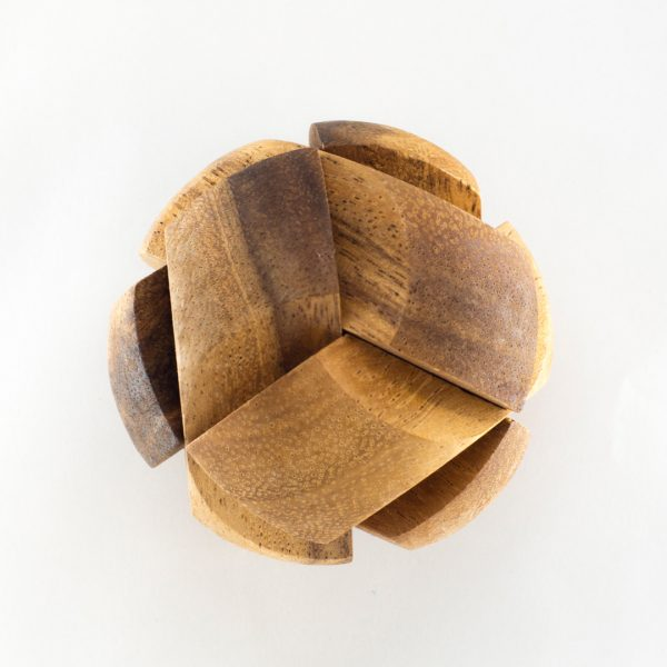 Tactile wooden ball puzzle game