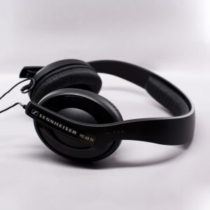 Sennheiser over ear headphones in black