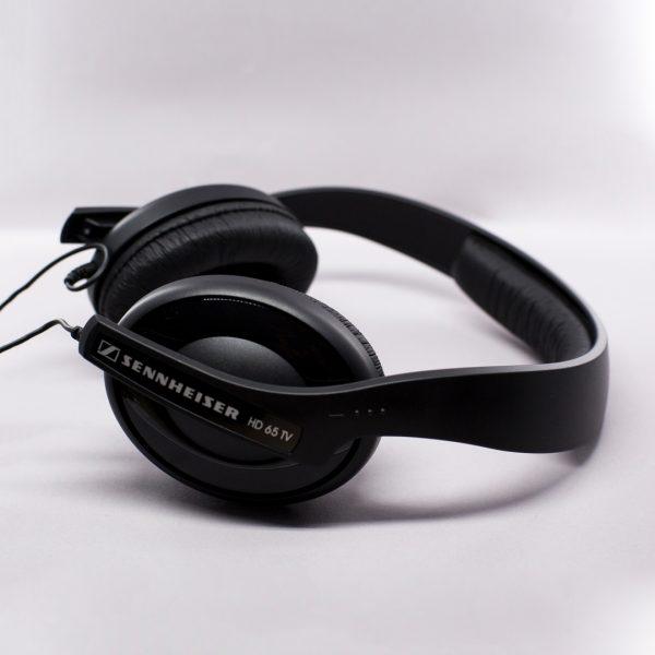 Sennheiser over ear headphones in black