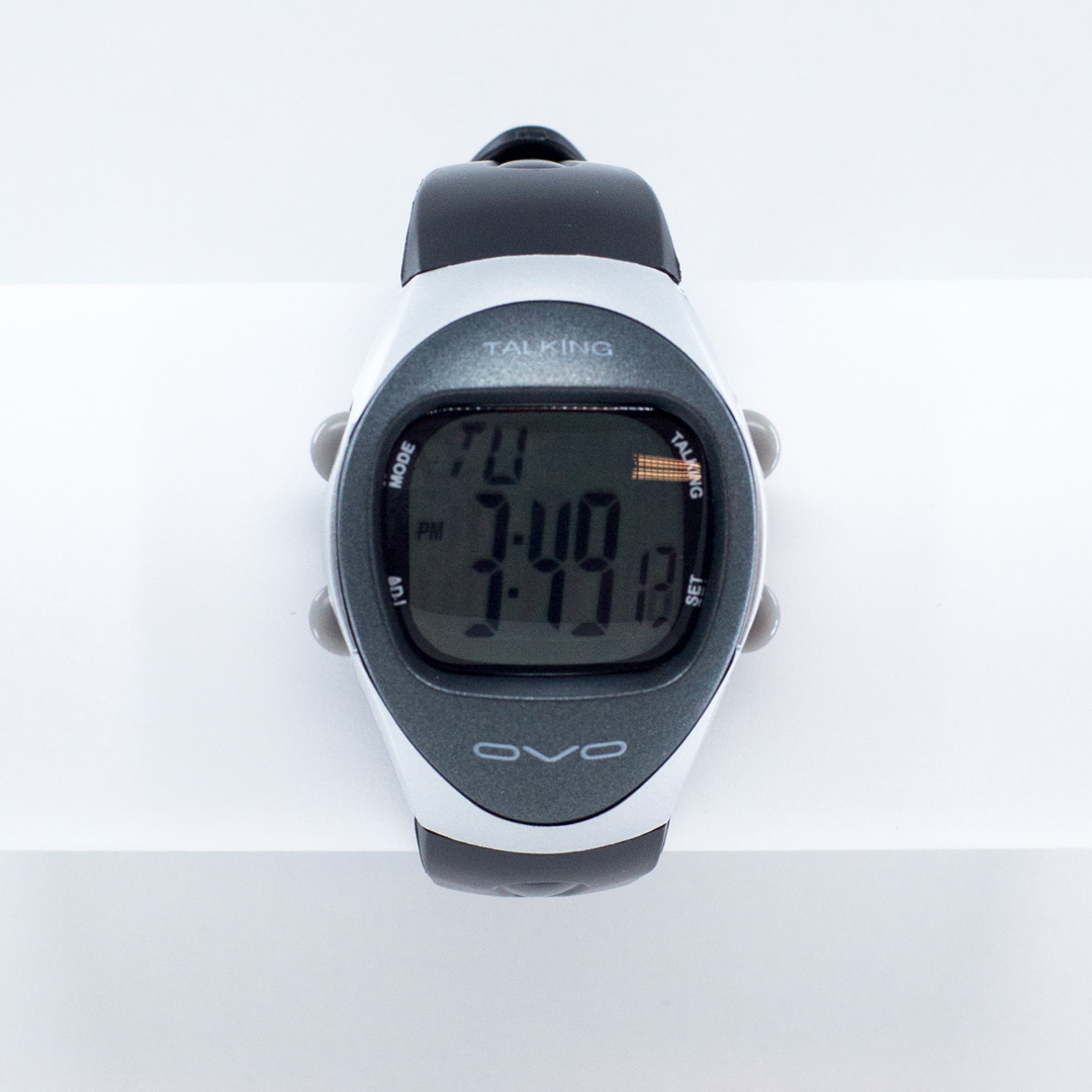 Digital sports watch with a talking feature
