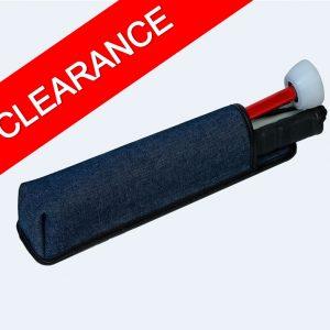 Blue denim cane pouch for folding canes